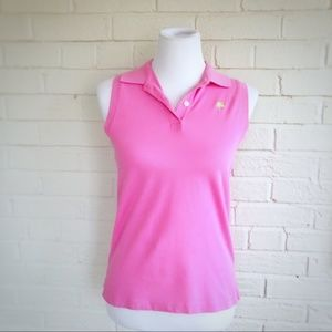 Lilly Pulitzer bubblegum pink polo tank top